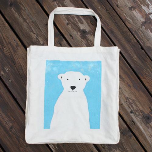 Sac réutilisable avec ours polaire