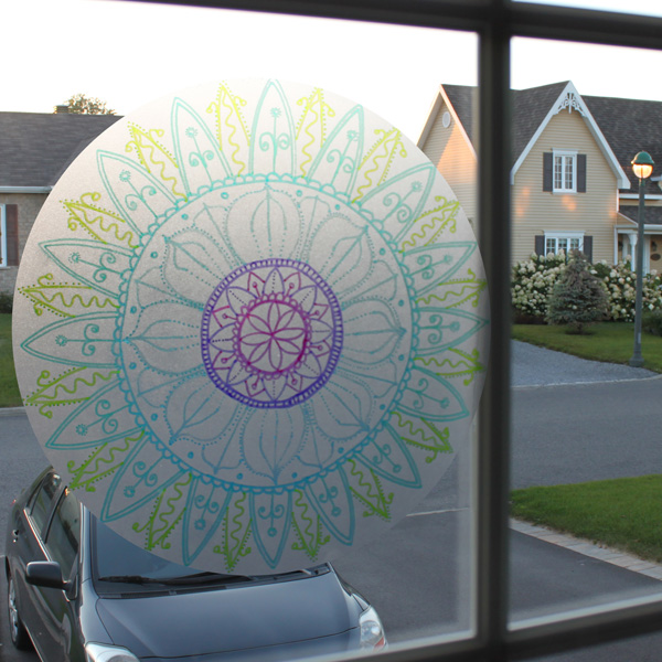 Mandala sur acétate