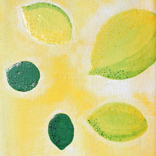 Citrons - toile 10 x 10