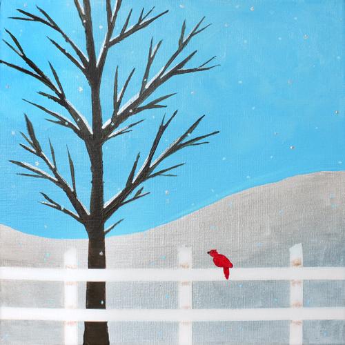 Cardinal - toile 10 x 10