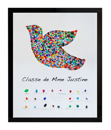Cadre «ma classe me donne des ailes»