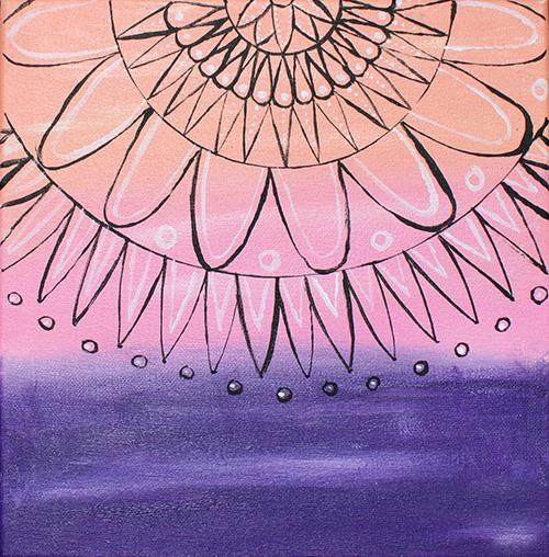 Mandala sur toile 10 x 10