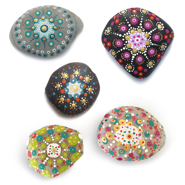 Mandalas sur pierres