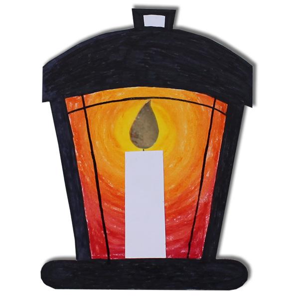 Lanterne ancienne sur aimant